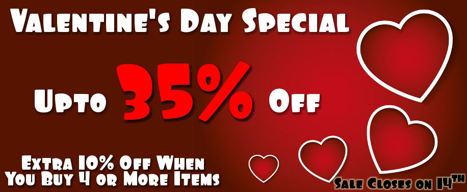 Valentine's Day Special Sale - Upto 35% Off