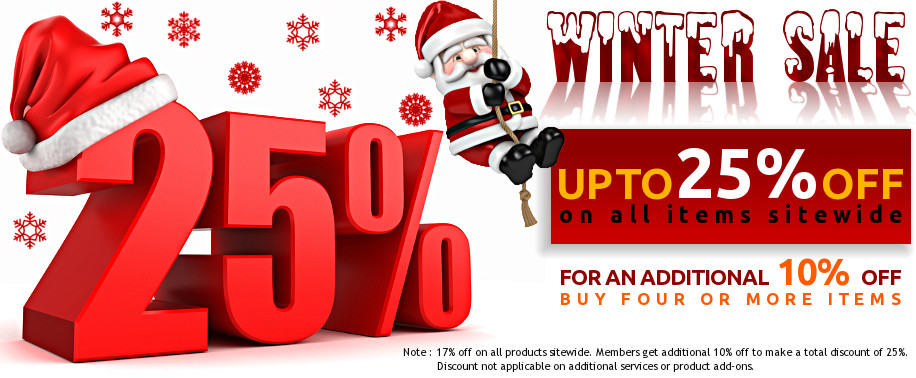Grand Winter Sale - Upto 25% Off on All Items