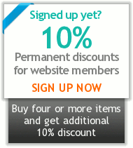 Sign up now to enjoy 10% or more permanent discounts