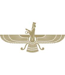Faravahar - Courtesy, http://en.wikipedia.org/wiki/File:Faravahar-Gold.svg